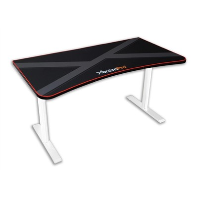 Xtrempro HIGH QUALITY GAMING DESK TABLE WHOLE MOUSE SURFACE PAD TRUE GAMER WORKSTATION (Black)