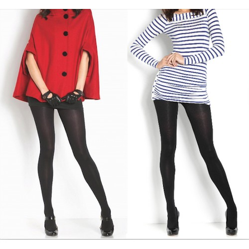 2-Pack Premium Superfine Fleece Lined Tights – Stylish & Warm Footed