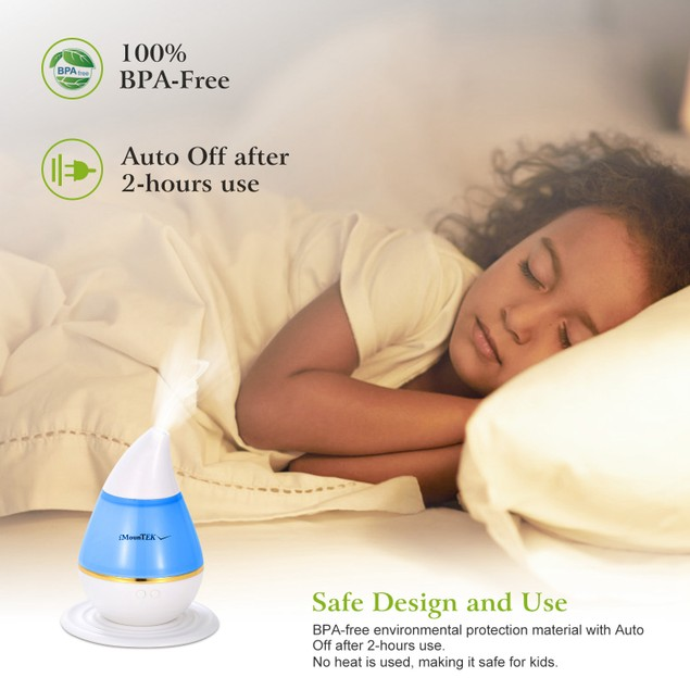 250ml Cool Mist Humidifier Ultrasonic Aroma Essential Oil Diffuser