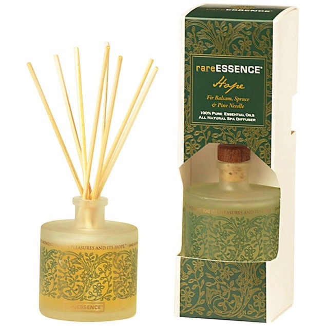rare ESSENCE 100% Pure Essential Oil Aromatherapy Reed Diffuser, Hope, 3.04