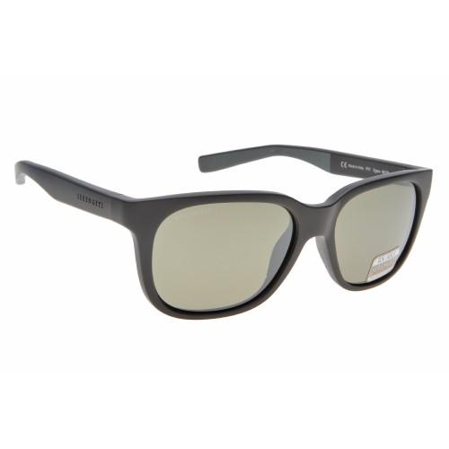 Serengeti Egeo Sanded Black/Grey Polarized Sunglasses