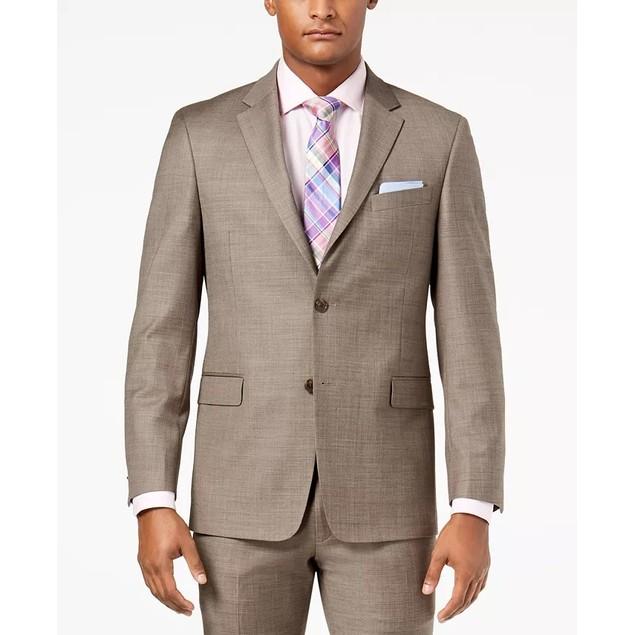 Tommy Hilfiger Men's Modern-Fit Th Flex Stretch Suit Jacket Beige Size 36
