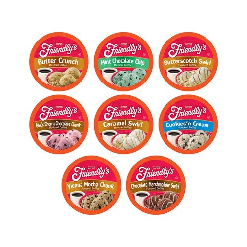Friendly's Variety Pack Coffee Pods for Keurig K-Cups Brewer, 40 count