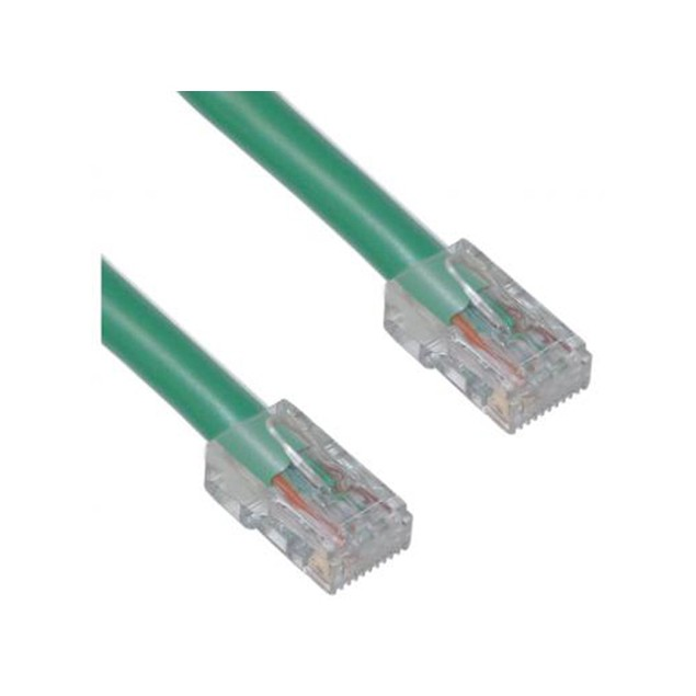 Cat5e Green Ethernet Patch Cable, Bootless, 3 foot