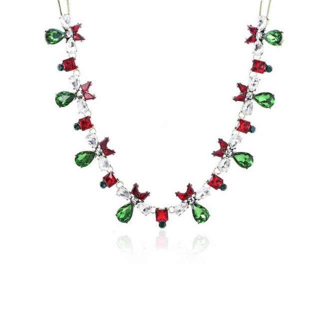 Novadab Chic Bow Holiday Statement Women Necklace
