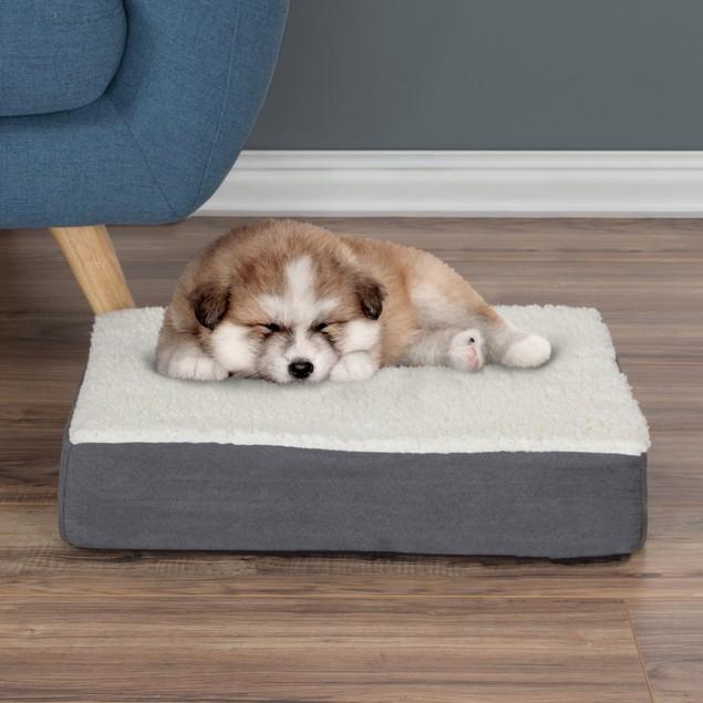 Orthopedic Sherpa Top Pet Bed