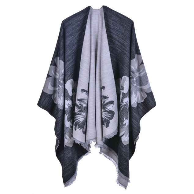 Ladies Double-Sided Loose Beard Shawl Fashion Cloak