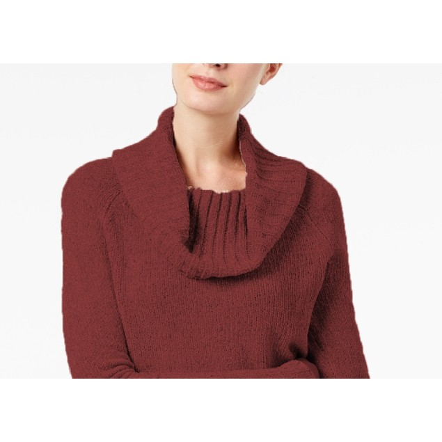 INC International Concepts Wo Cowl-Neck Chenille Sweater 2 Extra Large