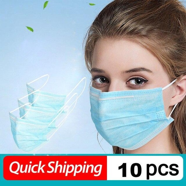 10-pack 3-Ply PM2.5 N95 KF94 FPP2 Nonwoven Disposable Elastic Mask