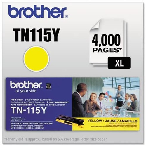Brothers Brother - TN115Y High-Yield Toner, 4000 Page-Yield, Yellow TN115Y (DMi EA