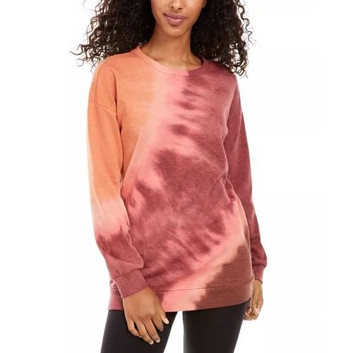 Ultra Flirt Juniors' Tie-Dye Tunic Sweatshirt Dark Purple Size Small