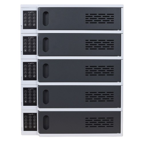 Offex 5 Bay Mobile Devices Charging Station Locker with Digital Key Lock