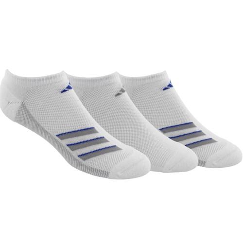 Adidas Men's Superlite Stripe No Show Socks 3 Pack White Size Regular