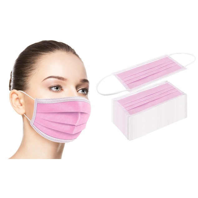 Disposable 3-Ply Face Masks (50-Pack)