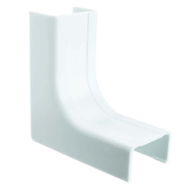 1.25 inch Surface Mount Cable Raceway, White, Inside Corner/Base