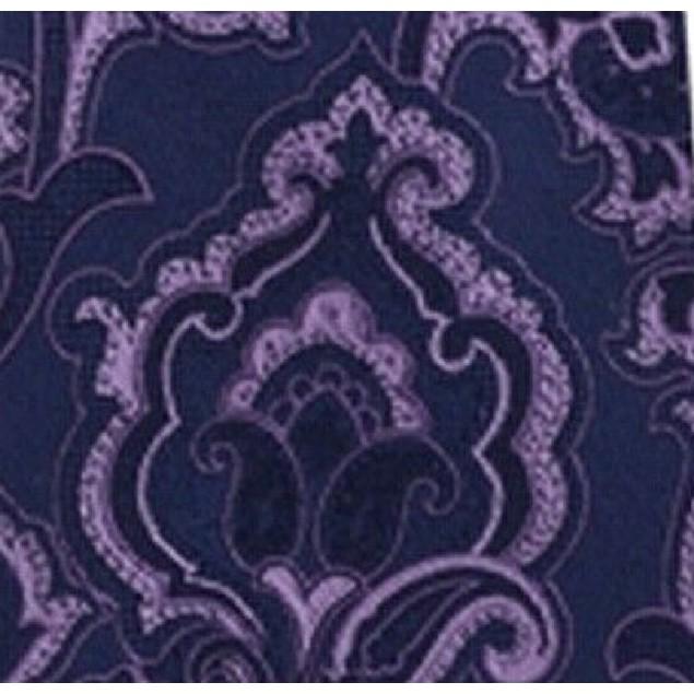 Michael Kors Men's Intricate Outlined Paisley Tie Purple Size Regular