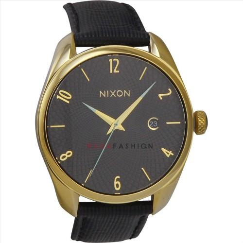 NEW Nixon Women's A473513 Bullet Leather Analog Display Japanese Quartz Black Watch A473-513-00