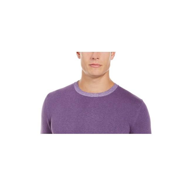Tasso Elba Men's Crew Neck Sweater Purple Size XX-Large