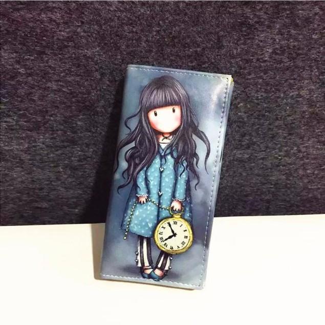 Women Cartoon Graffiti LORI Girl Long Purse Wallet Handbag
