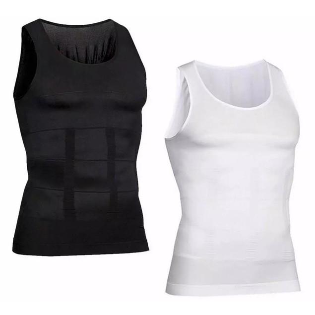Mens Body Shaper Slimming Shirt Tummy Waist Vest Slim Compression Tank