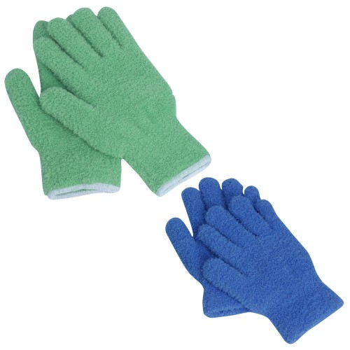 2-Pair EvridWear Microfiber Dusting Cleaning Gloves for Car and Truck