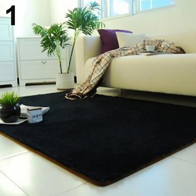 Living Room Bedroom Home Anti-Skid Soft Shaggy Fluffy Area Carpet