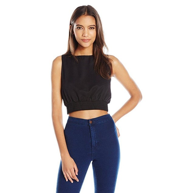 Dolce Vita Women's Mackenzie Crop Top, Black,  Sz: M