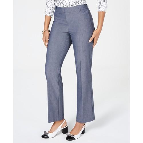 Charter Club Women's Straight-Leg Trousers  Blue Size 8