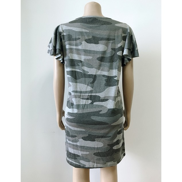 Old Pile Of Sleeves Camouflage Dress
