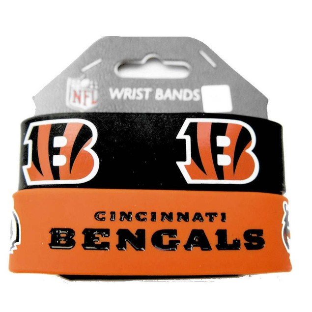 Cincinnati Bengals Rubber Wrist Band (Set of 2) NFL