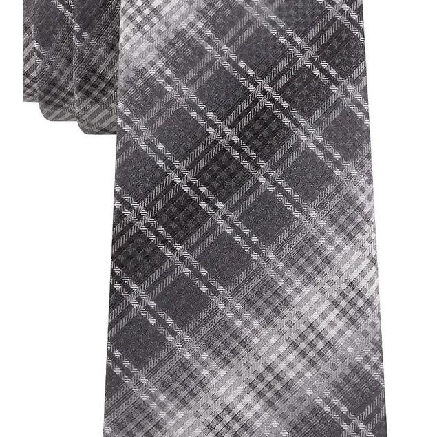 Van Heusen Men's Garcia Classic Ombre Plaid Tie Black Size Regular