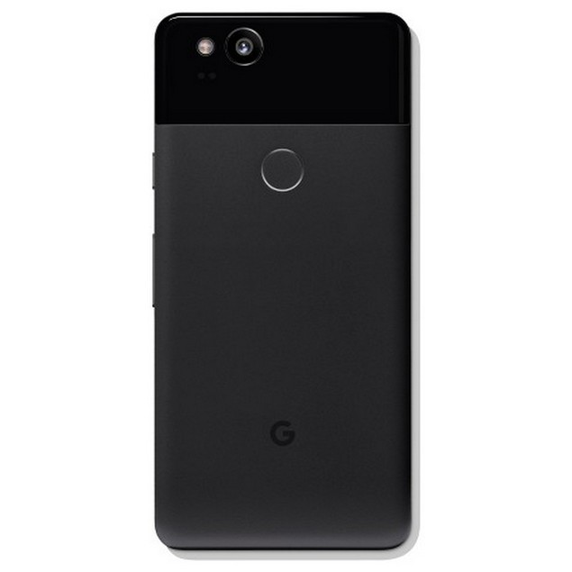 Google Pixel 2, Unlocked, Grade A, Screen Shadow, Black, 64 GB, 5 in Screen