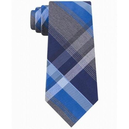 Kenneth Cole Reaction Men's Plaid Tie Blue One Size