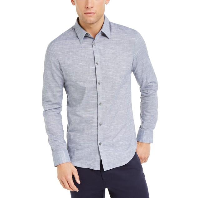 Calvin Klein Men's Chambray Shirt Gray Size Small