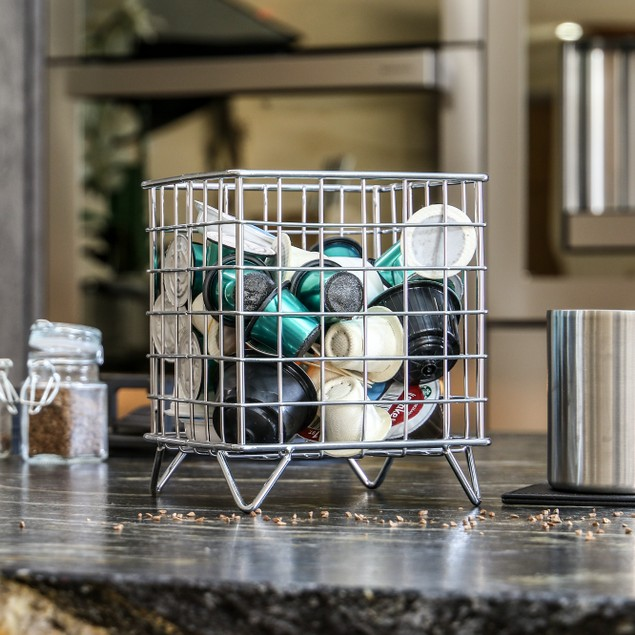 Coffee Pod Cage Holder | MandW Silver