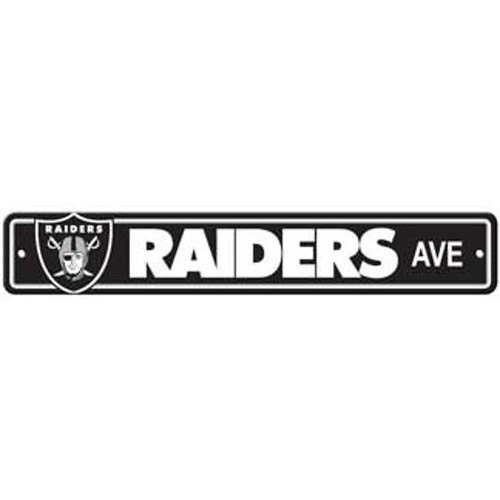 "Oakland Raiders Ave Street Sign 4""x24"""