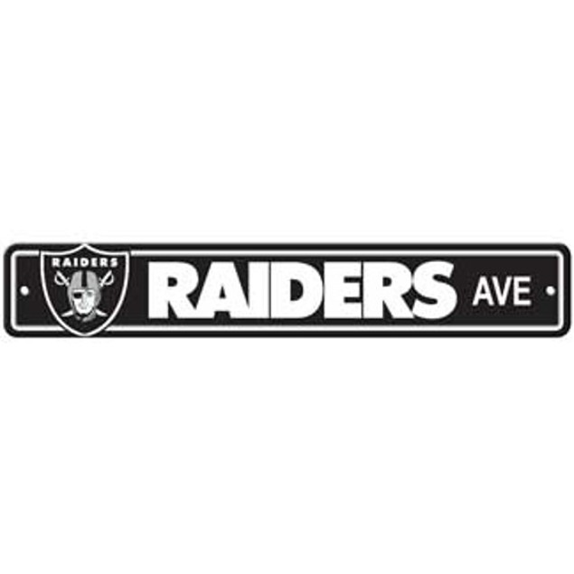 """Oakland Raiders Ave Street Sign 4""""x24"""""""