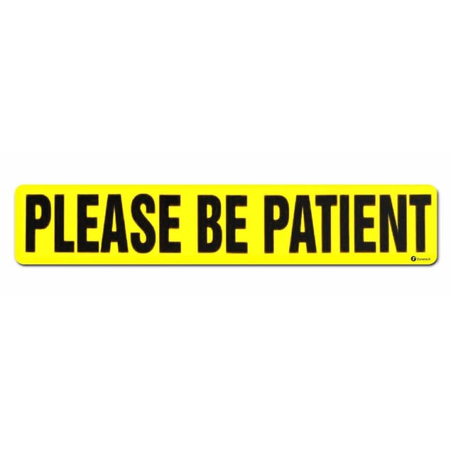 Zone Tech Please Be Patient Reflective Magnet Car Sign Student Driver