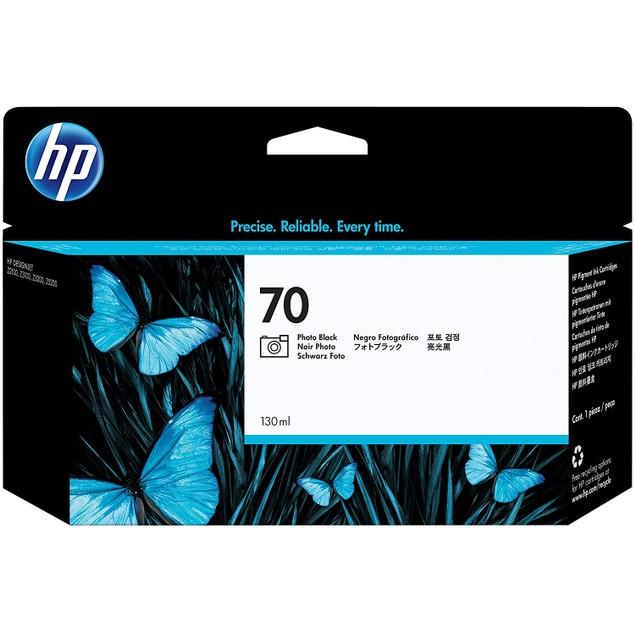 HP 70 Photo Black 130-ml Genuine Ink Cartridge (C9449A) for DesignJet Z5400, Z5200, Z3200, Z3100 & Z2100 Large Format Printers