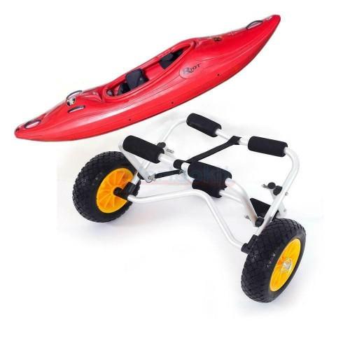 Aluminum Bend Kayak Carrier Boat Canoe Dolly Trailer Tote Trolley Whee