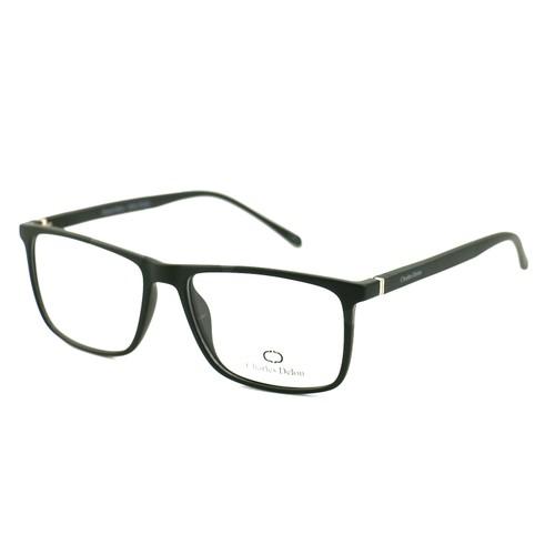 Charles Delon Men Eyeglasses MZ1306 C01 Matte Black 53 16 140 Rectangle Plastic