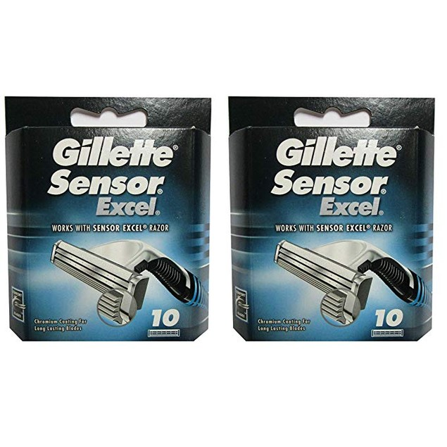 20-Count Gillette Sensor Excel Razor Refill Cartridges