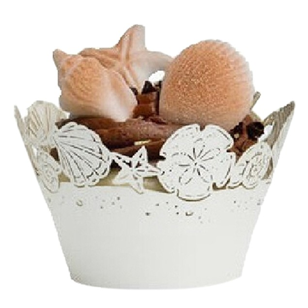 12 Pcs Hollow Shell Starfish Cupcake Muffin Wrapper Case
