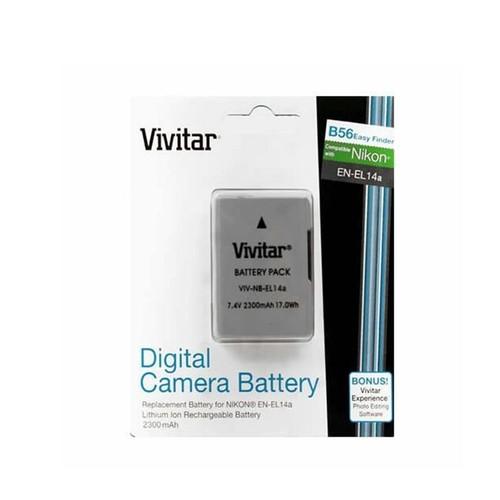 Vivitar Fully Encoded Rechargeable EN-EL14a Replacement Battery for Nikon D5600 D5500 D5200 D3500 D3400 D3300 D3200