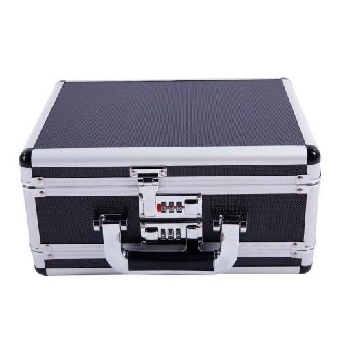 30*15*23cm Aluminum Framed Pistol HandGun Lock Box Storage Carry Case Black