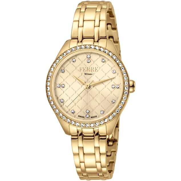 Ferre Milano Women's Classic Gold Dial Watch - FM1L116M0061