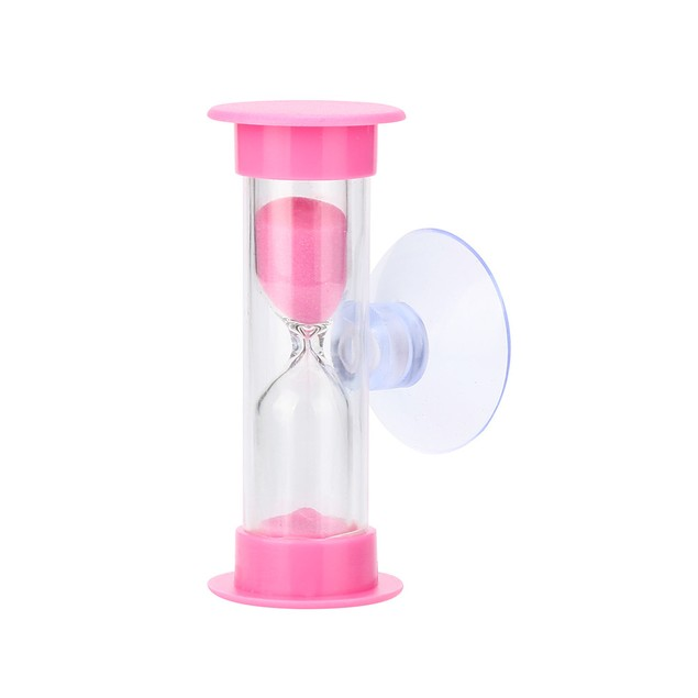 3Min Mini Hourglass for Shower Timer/Teeth Brushing Timer with Suction Cup