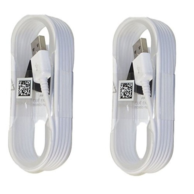 Samsung Micro USB Charge & Sync Cable, 5 feet (White) 2 Pack
