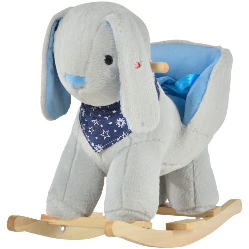 Children Rocking Kids Chair Bunny Style w/ Playful Sound for Kids 18-36