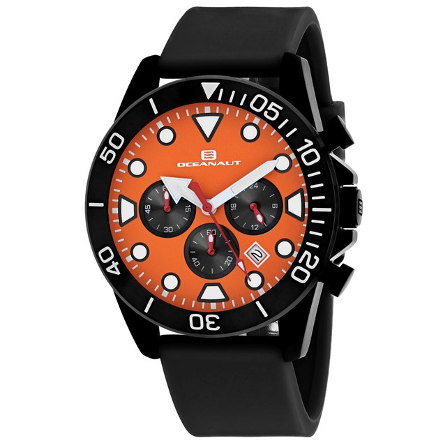 Oceanaut Men's Naval Orange Dial Watch - OC1312